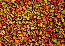 Droge voedsel voor huisdierenachtergrond Stock Afbeeldingen