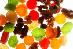 Droge vruchten stock foto's