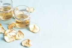 Droge vruchten compote Glaskoppen met een drank van droge vruchten, Royalty-vrije Stock Afbeelding