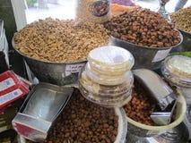 Droge Vruchten en Noten in Teheran Royalty-vrije Stock Afbeeldingen