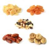 Droge vruchten met noten Stock Afbeeldingen