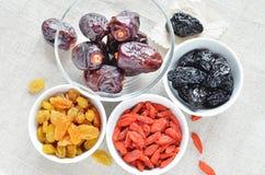 Droge vruchten snack royalty-vrije stock afbeeldingen