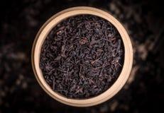 Droge zwarte thee royalty-vrije stock fotografie