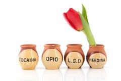 Drogen in den Niederlanden Stockfotografie