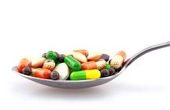 Drogen im Löffel Lizenzfreie Stockbilder