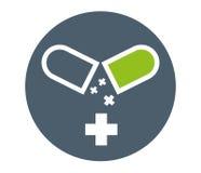 Drogen-Kapsel-Ikonen-Design Stockbild