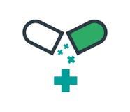 Drogen-Kapsel-Ikonen-Design Lizenzfreie Stockfotografie