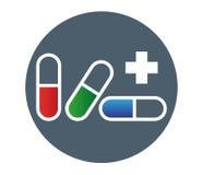 Drogen-Kapsel-Ikonen-Design Lizenzfreies Stockfoto