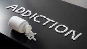 Drogen- oder Medizinsucht stockbilder