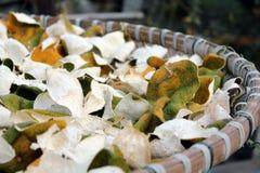 Drogende mandarijnschil Royalty-vrije Stock Afbeeldingen