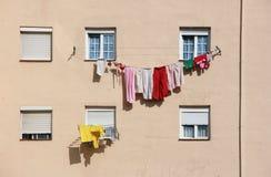 Drogende wasserij Stock Foto's