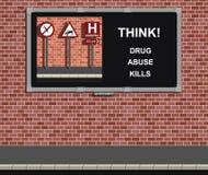 Drogenmissbrauchkampagne Stockbild