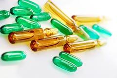 Droger eller vitaminer Arkivfoto