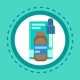Droger för medicin för service för sjukhus för kliniker för hälsovård för apoteksymbolspreventivpillerar medicinska royaltyfri illustrationer
