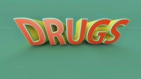 droger för text 3D och ord Royaltyfria Bilder