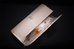 Droger i kvinnornas handväska Royaltyfria Bilder