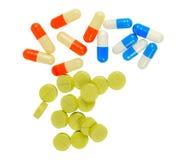 Droghe e pillole Immagini Stock Libere da Diritti