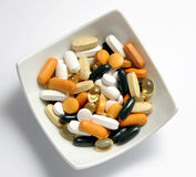 Droghe e vitamine Fotografie Stock Libere da Diritti