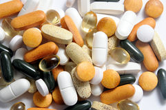 Droghe e vitamine Fotografie Stock