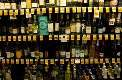 Drogheria del vino del liquore dell'alcool immagini stock