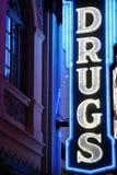 Droghi il segno al neon Fotografia Stock Libera da Diritti