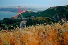 Drogi blisko Golden Gate Bridge Obraz Stock