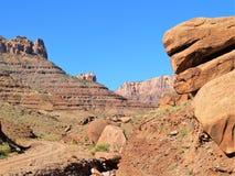 Drogi Gruntowe w Utah jaru kraju Fotografia Stock