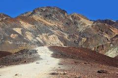 drogi gruntowej śmiertelna dolina Zdjęcie Stock