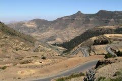 Drogi i serpentyny przez gór Etiopia fotografia royalty free