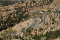 Drogi i serpentyny przez gór Etiopia zdjęcia royalty free