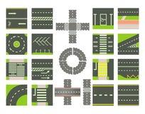 Drogi ikony set, kreskówka styl ilustracji