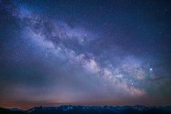 Drogi Mlecznej Huraganowej grani Olimpijskie góry fotografia royalty free