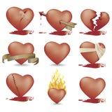 drogi odcinając serc Obraz Stock