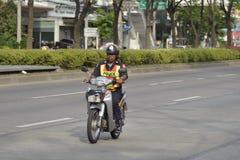 Drogi policja na motocyklu Zdjęcie Royalty Free