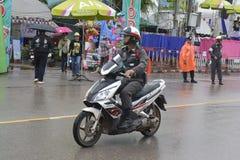 Drogi policja na motocyklu Fotografia Royalty Free