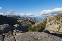 Drogi przemian ambony skała, Norwegia Zdjęcia Royalty Free