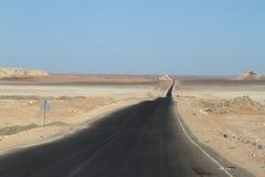 Drogi przez Sahara w Egipt Obrazy Stock