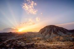 Drogi pustynia - almerÃa Hiszpania fotografia royalty free