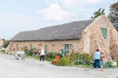 Drogi restauracja przy Matjiesfontein gospodarstwem rolnym i kram Zdjęcia Royalty Free