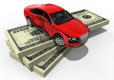 Drogi ubezpieczenie samochodu royalty ilustracja