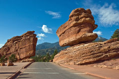 drogi zrównoważona skała Obraz Stock