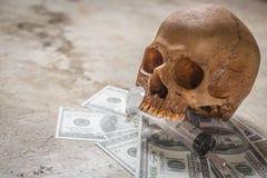 Drogkokain av den symboliska döda bilden Royaltyfria Bilder