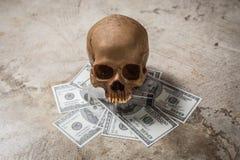 Drogkokain av den symboliska döda bilden Royaltyfri Fotografi