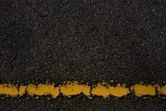Drogowa i żółta linia, wroga tło zdjęcie stock