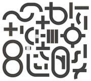 Drogowa ikon footpath, pierścionku, nieskończoności i zwrotów wektoru ilustracja, ilustracji
