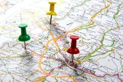 Drogowa mapa Zdjęcia Stock