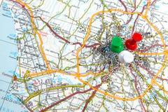 Drogowa mapa Obraz Stock