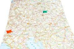 Drogowa mapa Europa Obrazy Royalty Free