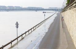 Drogowa powódź w mieście Zdjęcia Royalty Free
