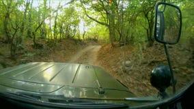 Drogowa przygoda na przez cały kraj pojazdzie zbiory wideo
